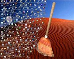 Optymalizacja XP i przyspieszanie systemu Windows XP - oczyszczanie pulpitu
