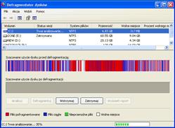 Optymalizacja systemu Windows XP przez defragmentację