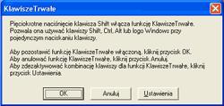 Optymalizacja komputera - efekt naciskania klawisza Shift 5 razy